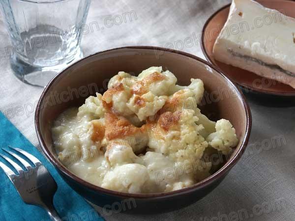 Receta de coliflor gratinada al gorgonzola