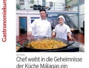 Curso cooking Mijas en diario Sur en alemán
