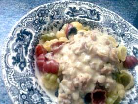 Receta de pasta con gorgonzola y nueces