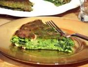 Receta de tarta de queso y espinacas