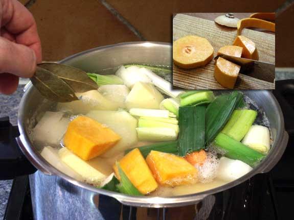 Receta de caldo de pollo casero, elaboración