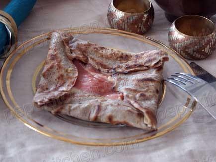 Receta de crepes bretonas o galletes