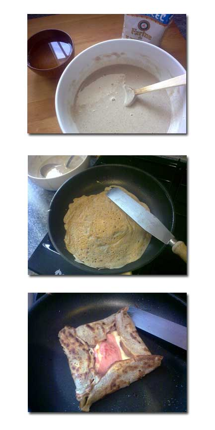 Receta de gallete, elaboración