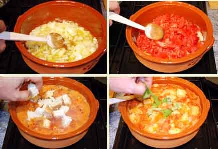 Receta de sopa de tomate y albahaca, elaboración-Pepekitchen.com