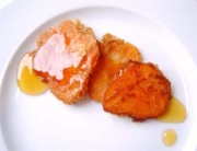 Receta de torrijas de batata y miel