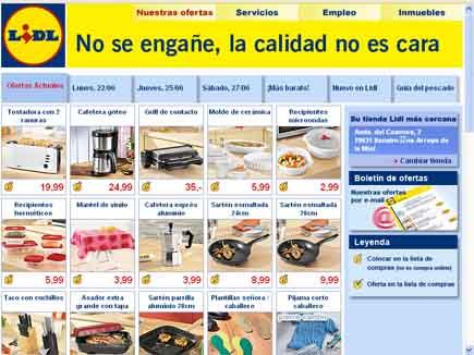 Análisis De La Página Web De Supermercados Lidl Pepekitchen