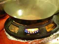 Calentar el wok