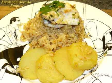 Receta de arroz con dorada