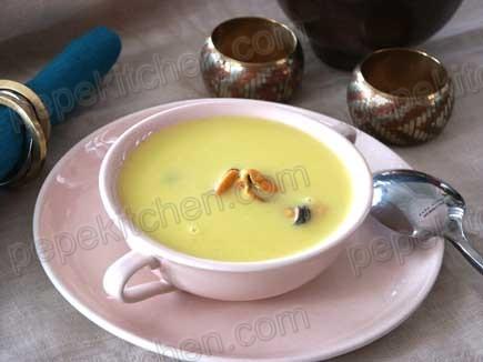 Receta de crema de mejillones al curry