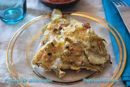 frittata de alcachofas