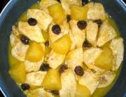 Receta de pollo con naranja y manzana