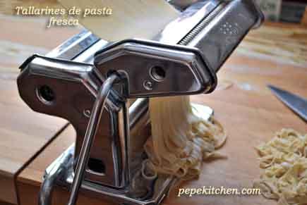 cómo hacer tallarines de pasta fresca