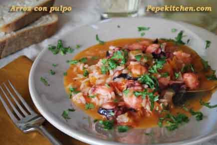 Receta de arroz con pulpo del Algarve
