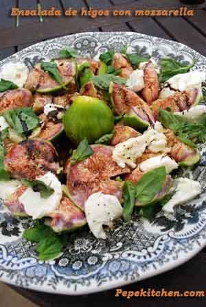Receta de ensalada de higos con mozzarella y albahaca
