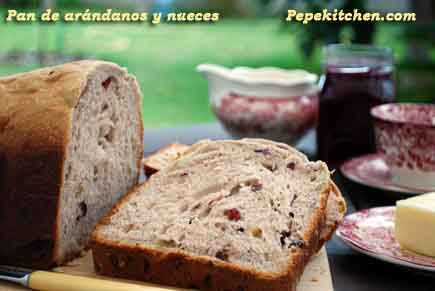 pan de arandanos