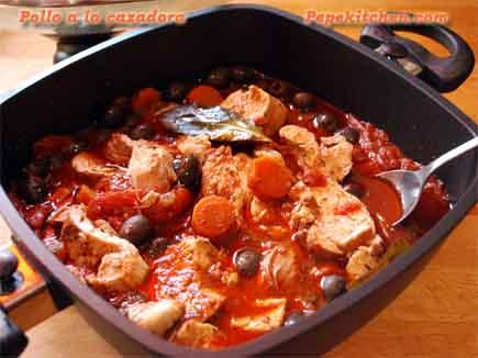 Pechugas de pollo a la cazadora pepekitchen for Como cocinar filetes de pollo
