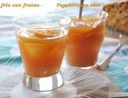 Receta de té frio con frutas