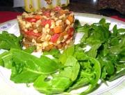 Ensalada de lentejas y trigo. Olimpia, para Pepekitchen.com
