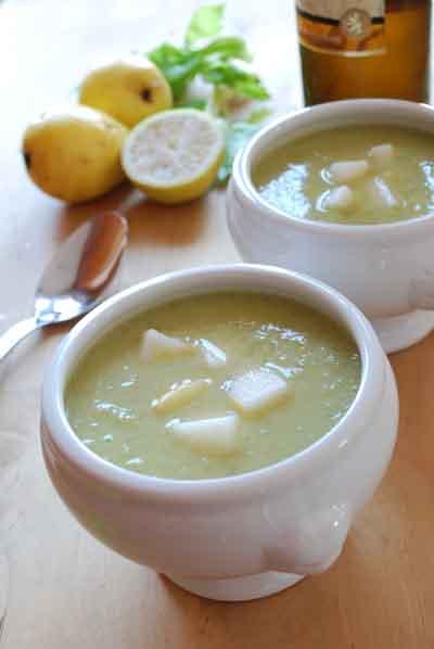 Sopa de apio y peras al riesling© José Maldonado