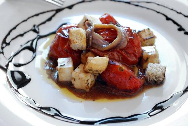 Ensalada tomates confitados. José Maldonado