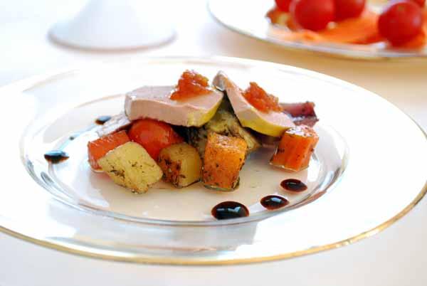 Verduras confitadas con mousse de pato © José Maldonado