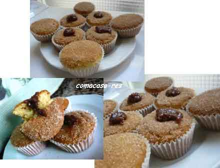 muffins con alma de donut