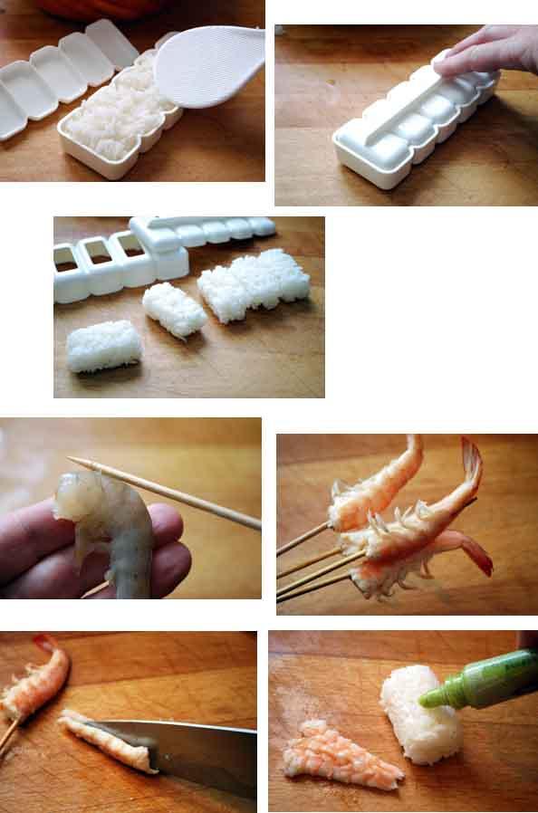 nigiri sushi langostinos pasos