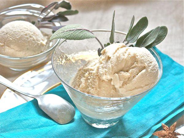helado de te verde con salvia