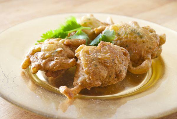 bhajis de cebolla-curso cocina hindú pepekitchen