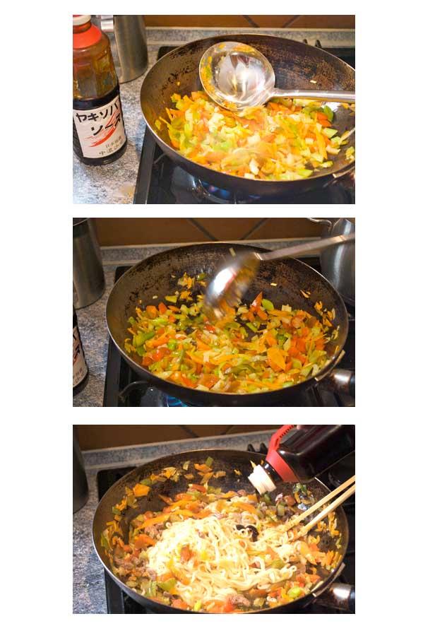 Fideos yakisoba de ternera y verduras curso de cocina - Curso cocina japonesa ...