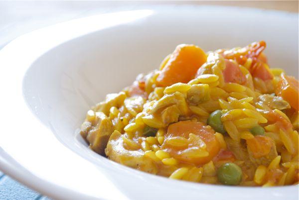 risottata de orzo con verduritas y pollo - 4