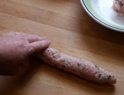 salchichas caseras de pavo y parmesano - 3