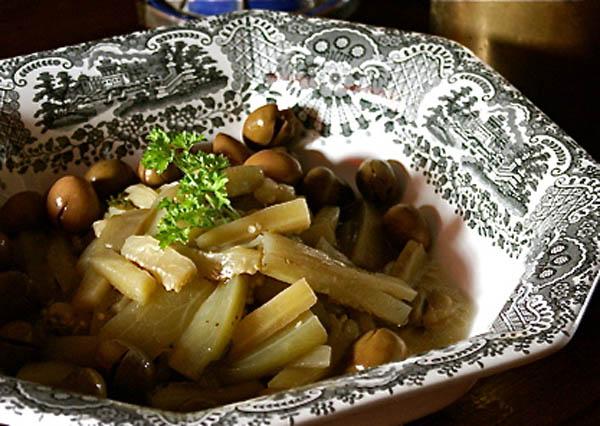 ensalada berenjenas cilantro