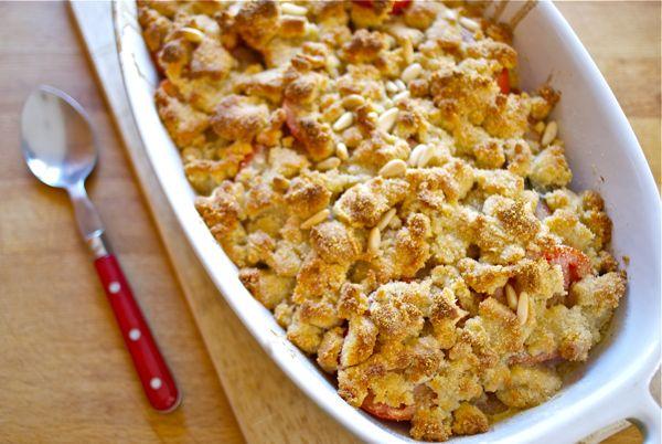crumble de tomates, piñones y parmesano - 2