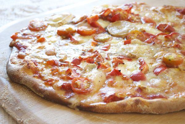 pizza de queso de cabra - 1