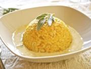 risotto calabaza con fonduta gorgonzola