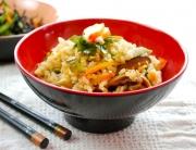 arroz con wakame
