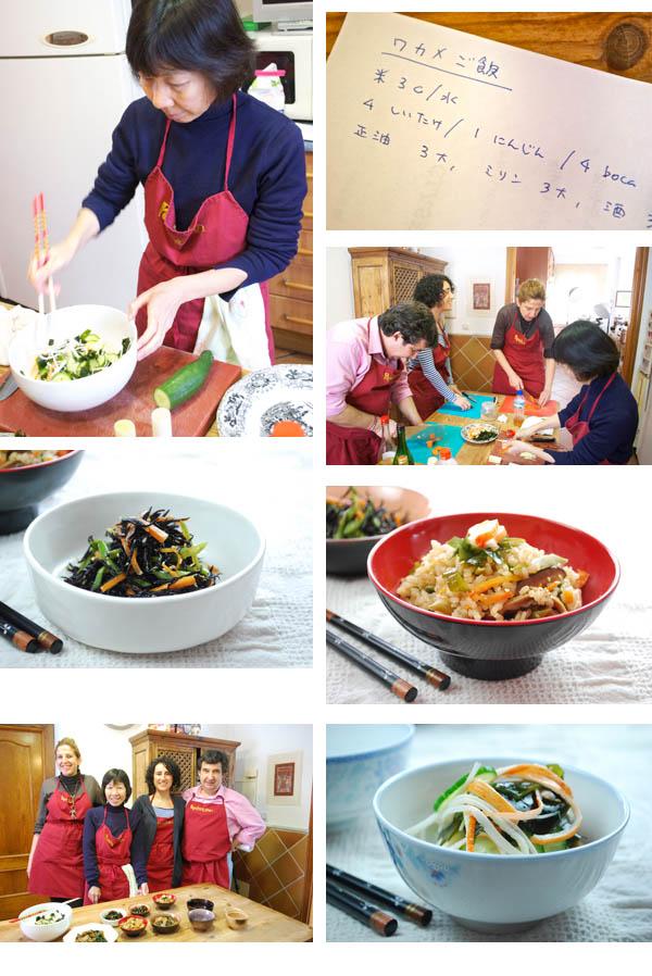 taller cocina japonesa con algas pepekitchen collage