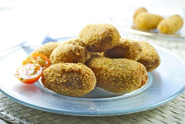 Croquetas de tortilla de patatas y jamón