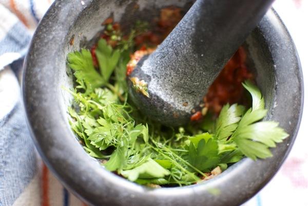 tajin de cordero con chermoula y frutas - 3