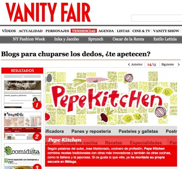 pepekitchen en Vanity Fair