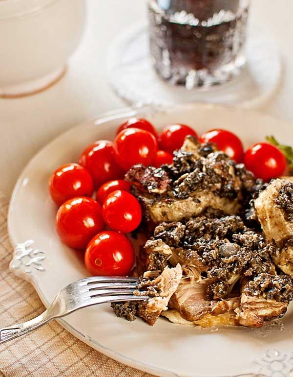 Cordero en olivada