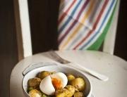 Ensalada patatas guisantes mojo