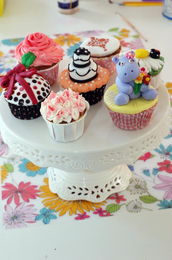 decoracion de cupcakes con fondant