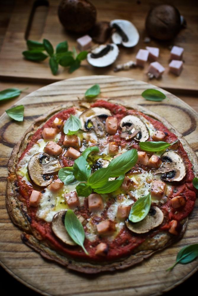 pizza de quinoa y pechuga pavo ElPozo